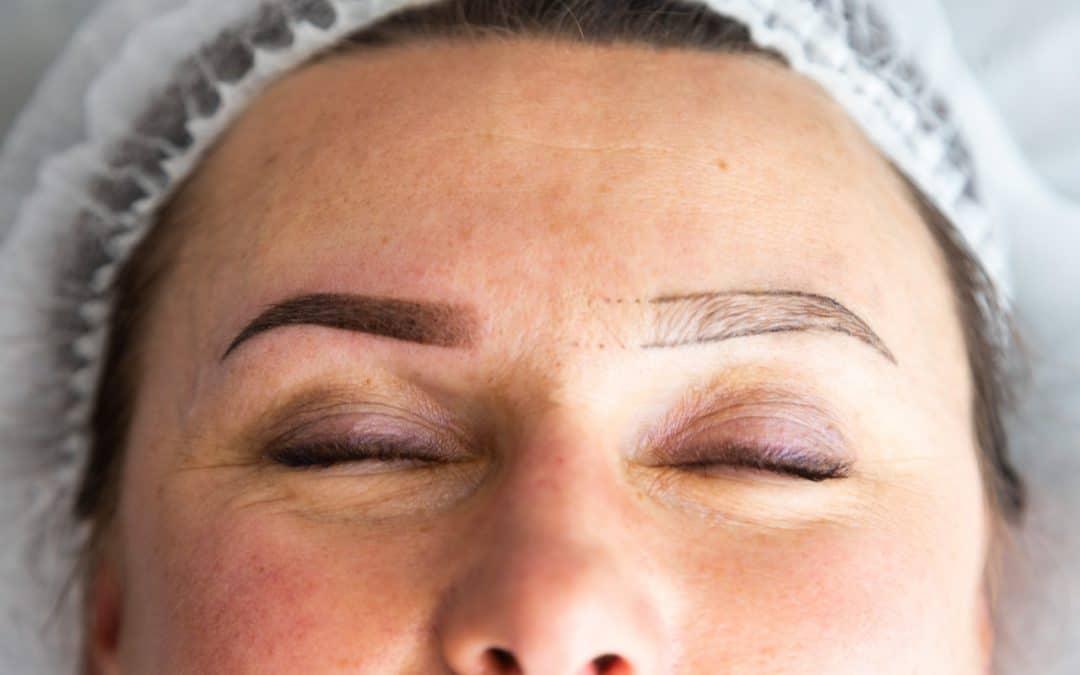Gojenie brwi po makijażu permanentnym