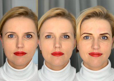 Makijaż Klientki/brak makijazu/ombre bezpośrednio po zabiegu