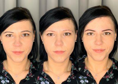 Makijaż Klientki/brak makijażu/świeżutkie ombre