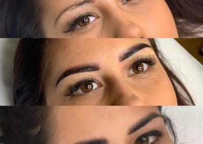 Brak makijażu/ombre po zabiegu/ombre wygojone przed dopigmentowaniem