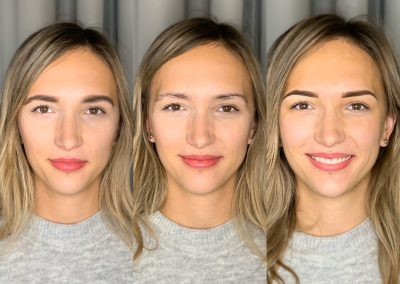 Makiaż Klientki/brak makijażu/metoda ombre